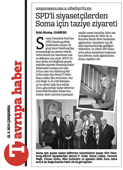 Solidaritätsbesuch beim türkischen Generalkonsulat