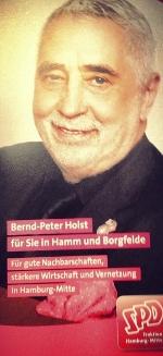 Am 25. Mai 2014 in Hamburg-Mitte auf SPD-Listenplatz 16 Bernd P. Holst wählen