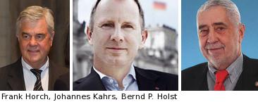 Frank Horch, Johannes Kahrs, Bernd-Peter Holst