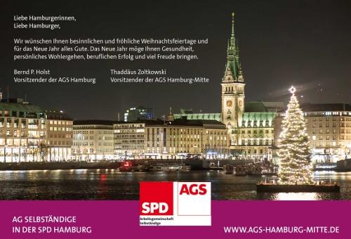 Weihnachtsgrüße von der AGS-HAMBURG-MITTE und einen angenehmen Jahresausklang